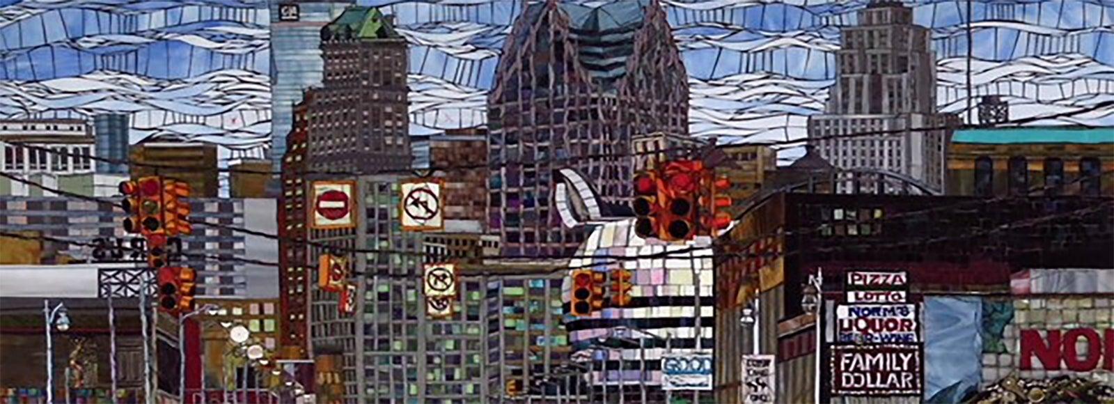 More Info for Unshattered City by Detroit Artist Darcel Deneau Is Installed in TCF Center
