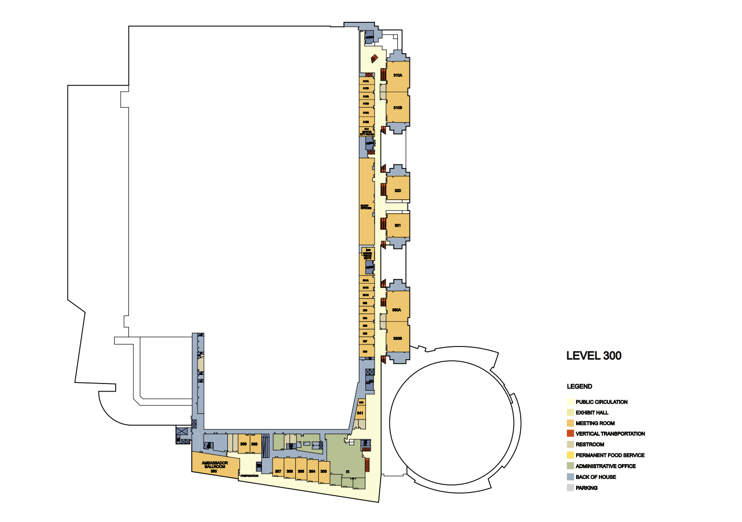 floor plans cobo center detroit michigan detailed room plans by floor level100 update png level200 update jpg level 300 update png