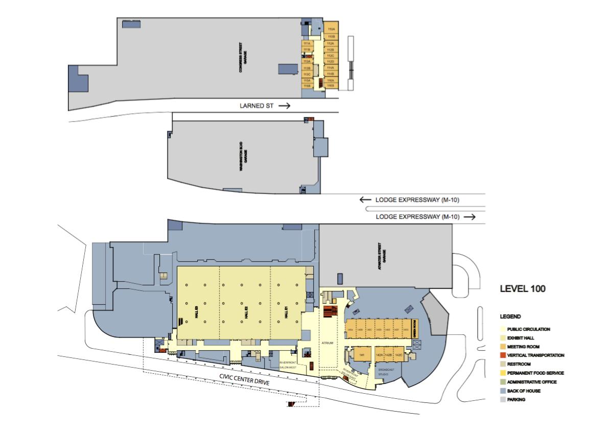 floor plans cobo center detroit michigan